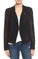 Willow And Clay Women's Eyelet Moto Jacket