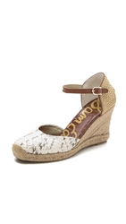 Sam Edelman Harmony Espadrille Wedges Modern Ivory Old Cocoa Natural
