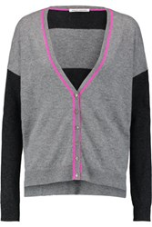 Autumn Cashmere Striped Cardigan Gray