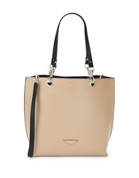 Karl Lagerfeld Bell Reversible Faux Leather Tote Nude Black