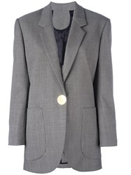 Petar Petrov One Button Blazer Black