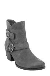 Earthr Women's Earth 'Olive' Moto Boot Dark Grey Vintage Leather