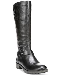 Naturalizer Tanita Wide Calf Riding Boots Women's Shoes Black