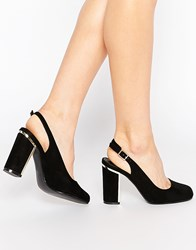 Truffle Collection Elin Sling Block Heeled Shoes Black Mf
