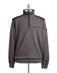 Bugatti Quarter Zip Sweater Grey
