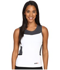 Louis Garneau Emilia Top White Gray Women's Workout