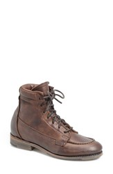 Women's Vintage Shoe Company 'Vanessa' Moc Toe Boot Chocolate Leather