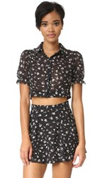 Wildfox Couture Swing Set Blouse Clean Black