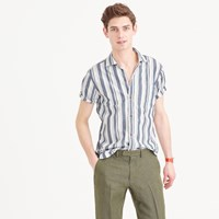 J.Crew Short Sleeve Camp Collar Shirt In Lightweight Cotton