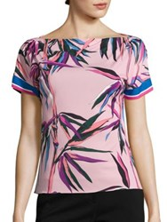 Emilio Pucci Printed Jersey Top Pink Print