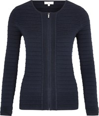 Cc Zip Through Cardigan Navy