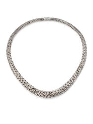 John Hardy Classic Chain Sterling Silver Bib Necklace