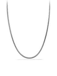 David Yurman Small Box Chain Necklace With Gold 22 Silver Gold