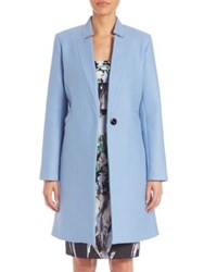 Milly Solid Virgin Wool Blend Coat Ice