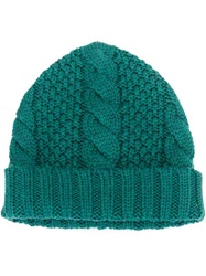 Umit Benan Cable Knit Beanie Green