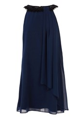 Coast Maddie Fringe Trim Dress Navy