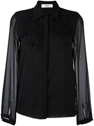 Blugirl Embroidered Shirt Black