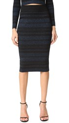 Kendall Kylie Stripe Pencil Skirt Navy Multi