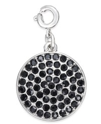 Inc International Concepts Silver Tone Crystal Disc Charm Only At Macy's Black