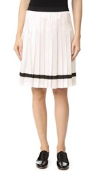 Marc Jacobs Pleated Skirt White