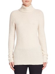 The Row Rubida Cashmere And Silk Turtleneck Sweater Ivory