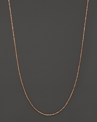 Bloomingdale's 14K Rose Gold Criss Cross Chain Necklace 18 Pink Gold