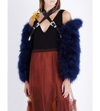 Toga Feather Arm Covers Blue