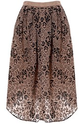 True Decadence Embroidered Midi Skirt Multi Coloured
