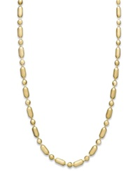 Macy's 14K Gold Necklace 20' Dot Dash Chain