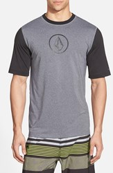 Men's Volcom 'Heather' Short Sleeve Rashguard Black