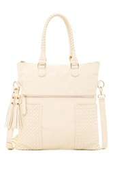 Urban Expressions Ava Woven Convertible Messenger White