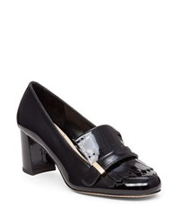 Vince Camuto Triss Block Heel Patent Leather Loafer Pumps Black