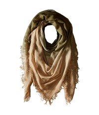 Chan Luu Shadow Dye Cashmere Scarf Olive Toasted Coconut Scarves Gold