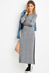 Forever 21 Contemporary Layered Stretchy Marled Dress Heather Grey