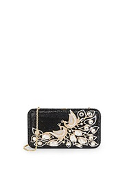 Judith Leiber Smooth Rectangle Peacock Crystal Clutch