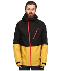 686 Glacier Hydra Thermagraph Jacket Harvest Gold Color Block Men's Coat Black