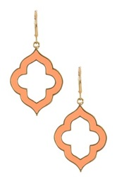 Ariella Collection Spade Earrings Orange