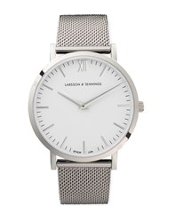 Larsson And Jennings Lugano 40Mm Silver Chain Metal Watch