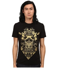 Just Cavalli Short Sleeve Gold Graphic Super Slim Fit Tee