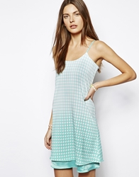 Lavish Alice Slip Cami Dress In Houndstooth Print Multi