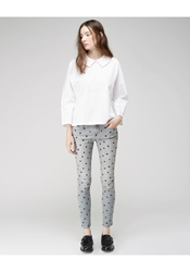 Each X Other Polka Dot Skinny Jeans Grey