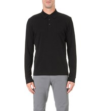 Hugo Boss Regular Fit Stretch Cotton Polo Shirt Black