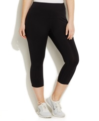 Calvin Klein Performance Plus Size Capri Leggings Black