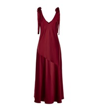 Sportmax Nerbare Bow Detail Maxi Dress Female Red