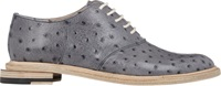 Band Of Outsiders Ostrich Stamped Saddle Shoes Grey Size 5