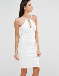 Forever Unique Mumba Snake Print Cami Bodycon Dress Ivory Cream