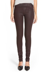 James Jeans Leggings Red Glossed Black Red Glossed