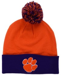 Top Of The World Clemson Tigers 2 Tone Pom Knit Hat