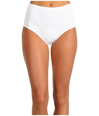 Hanro Cotton Seamless Full Brief 1625 White Women's Underwear