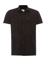 Duck And Cover Ensign Short Sleeve Shirt Black
